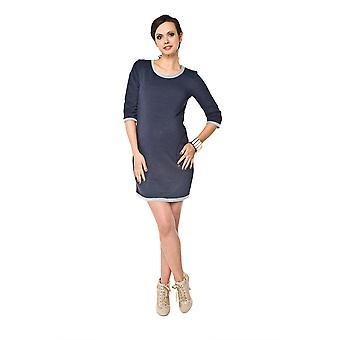 Jersey Jumper vestido de maternidad - azul oscuro