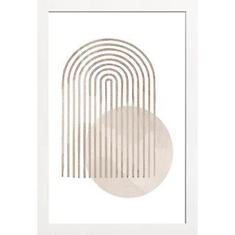 JUNIQE Print -  Abstract Rainbow - Abstrakt & Geometrisch Poster in Cremeweiß & Weiß