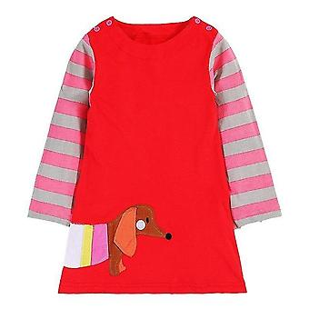 Dlhý rukáv Princezná Tunika Jersey šaty, Klobása Pes Design, Dojča