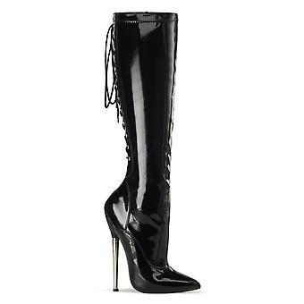 Devious Women's Shoes DAGGER-2064 Blk Stretch Pat