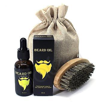 3pcs Men Beard Oil Kit Food Storage Kits Bag