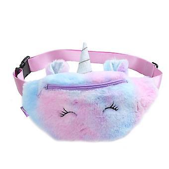 Female Waist Bag Kids Fanny Pack Cartoon Plush Women Belt Bag/fashion Travel