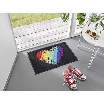 lavagem+seca footmat Pride Heart 40 x 60 cm capacho lavável