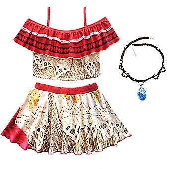 Diana Princess Dress Clothes With Necklace Halloween Costumes