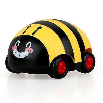 Cute Plastic Bee, Ladybug Pull Back Car, Inertia Truck Toy