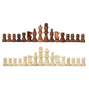 Wooden International Chess Set Board Game Chess Pieces Chessmen Collection