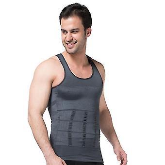 Plus Size Men's Shapewear, Tank Vest, Chest And Back Body Underwear