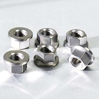 Pro Bolt Titanium Sprocket Nut M10 x (1.00mm) (6 Pack) TI6SPN10F