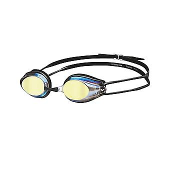 Arena spår spegel simma Goggle - speglad lins - guld/svart
