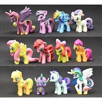 12pcs meine süße kleine Pony Pvc Regenbogen Pferd Aktion Spielzeug Figuren