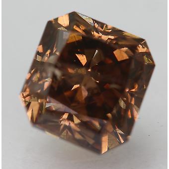 Cert 1,30 Karat Vivid Braun VS2 Radiant Enhanced Natürlichen Diamant 5,86x5,47 mm 2VG