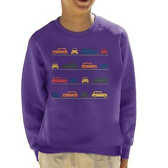 London Taxi Company TX4 vinklat färgstarkt montage kid's sweatshirt