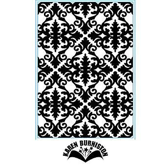 Elizabeth Craft Designs Embossing Folder - Damask