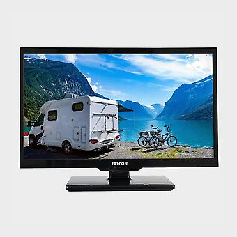 """New FALCON 24"""" HD Travel TV with DVD, Freeview, Freesat, USB, Black"""
