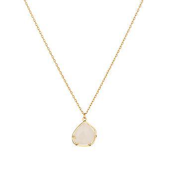 Golden mässing halsband monterad med en rosa kvarts '