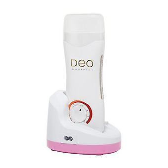 DEO calentador de cera portátil con cartucho de rodillo termostato - rosa y blanco - 100g