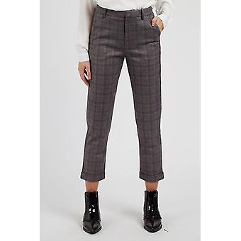 Louche Womens Jaylo French Check Trouser Grey