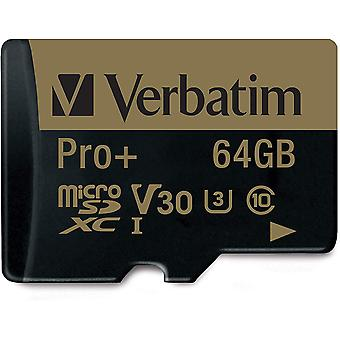 FengChun Pro+ U3 Micro SDXC-Speicherkarte - 64 GB mit MicroSD-zu-SD-Adapter fr