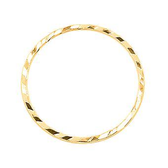 Beadalon Gold Tone Diamond Cut Links 30mm Rund (10 st)