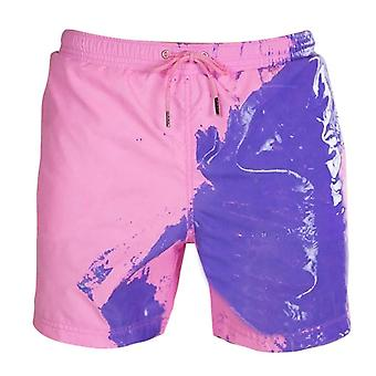 Beach Shorts Color Change Temperature Drawstring Swimming Trunks