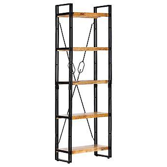 Bücherregal mit 5 Regalen 60X30X180 Cm Massive Mango Holz