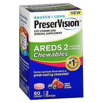 Bausch And Lomb Bausch + Lomb PreserVision Areds 2 Chewables Mixed Berry Flavor, 60 Tabs