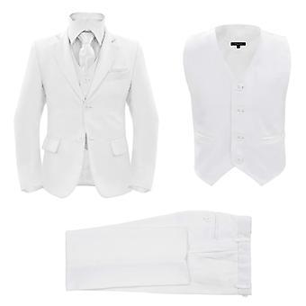 vidaXL Jungen-Anzug 3-tlg. Größe 92/98 Weiß