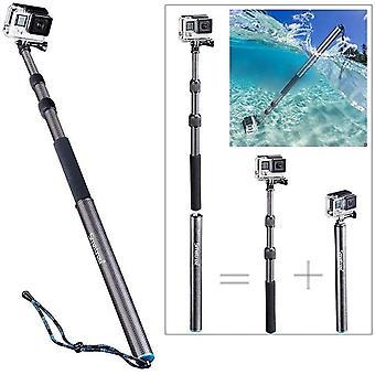 Wokex Selfie Stick Kohlefaser, S3C Kohlefaser Abnehmbare ausziehbare schwimmende Stange für GoPro