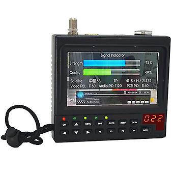 4.3 Inch portable dvb-s2 digital satellite finder and monitor full hd dvb-s sat finder meter kpt-268ah