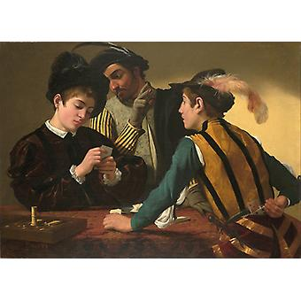 Cardsharps, Caravaggio Art Reproduction. Baroque Style Modern Hd Art Print Poster, Canvas Prints Wall Art For Office Home Decor Pictures