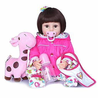 55Cm precioso conjunto de vestido de jirafa renacido todder realista real suave de silicona de cuerpo completo renacido muñeca bebé