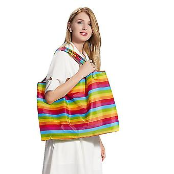 Waterproof Reusable Grocery Bags ,washable Shopping Bags  Foldable(Color1)