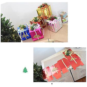 Foldable Christmas Box Christmas Gift Decoration Holiday Ornaments