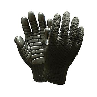 Camouflage Steel Wire Anti Cut Gloves Pvc Dots Coating Safety Gloves