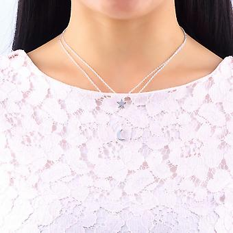 New Fashion Women's Double Chain Moon Star Charm Necklace Pendant Gift