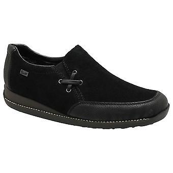 Rieker sort vandtæt høj front slip på flad sko