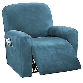 Housses inclinables en velours spandex housse de furnitue en peluche housse de salon de luxe, housse de protection de meubles extensibles pour fauteuil inclinable, bleu paon