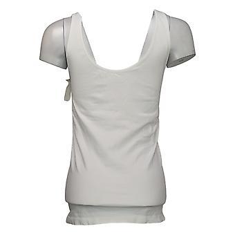 Rhonda Shear Shaper Seamless Tank w/Shelf Bra White Shapewear 586034