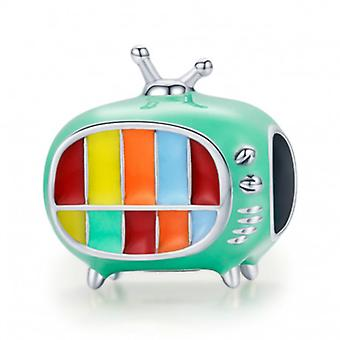 Sterling Silver Charm Television Set - 7106