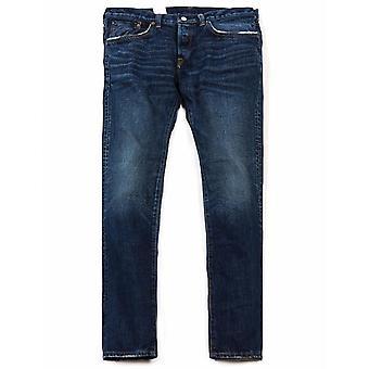 Edwin Jeans Regelbundna Avsmalnande Regnbåge Selvedge Denim - Mid Dark Used (nihon Menpu)