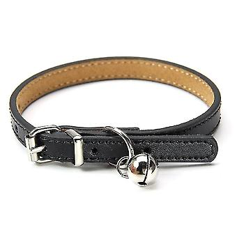Pet collars harnesses leather necklace for cats and puppies  adjustable 20cm-27cm cm-red