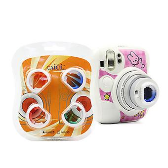 Conjunto de filtro de close-up de cores compatível com Fujifilm Instax Mini 25