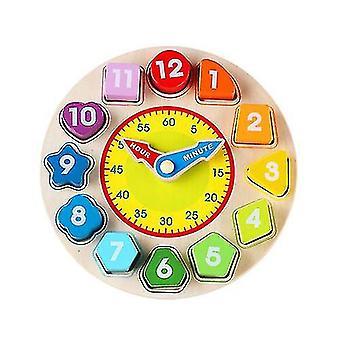 Qian din lemn color digital ceas cognitiv de învățare ceas cu alarmă ceas de învățământ pentru copii jucărie pentru copii