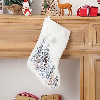 Bas personnalisés avec flocon de neige en or pour décorations de Noël Chaussettes