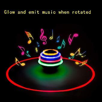 Spinning Top Led Toys Light Up Rotary Desktop Football Gyro 12 Pcs