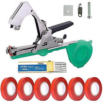 Netsilicon Plant Upright Tying Tapetool, Vine Tying Tape Agriculture Tool with 20 Rolls Tape and 1