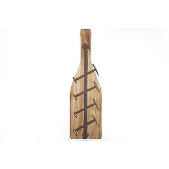 11x85x25CM aus Holz Eisen Flasche Stil 4 Flasche zu Hause