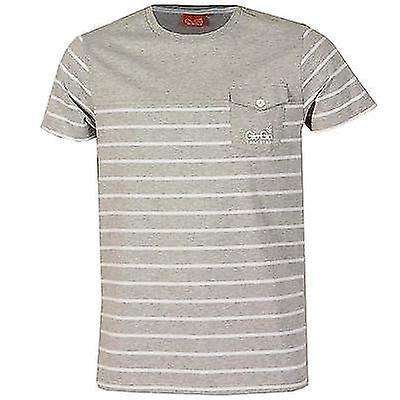 Gio Goi Entice Trakstar Men's Slim Fit Striped Cotton T Shirt Top