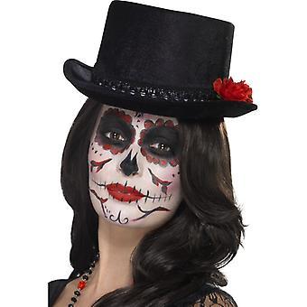 Dag van de dode Mexico cilinder dode hoed Halloween zwart