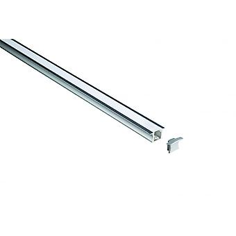 LED Robus Aluminium Recessed Extrusion, 15mm